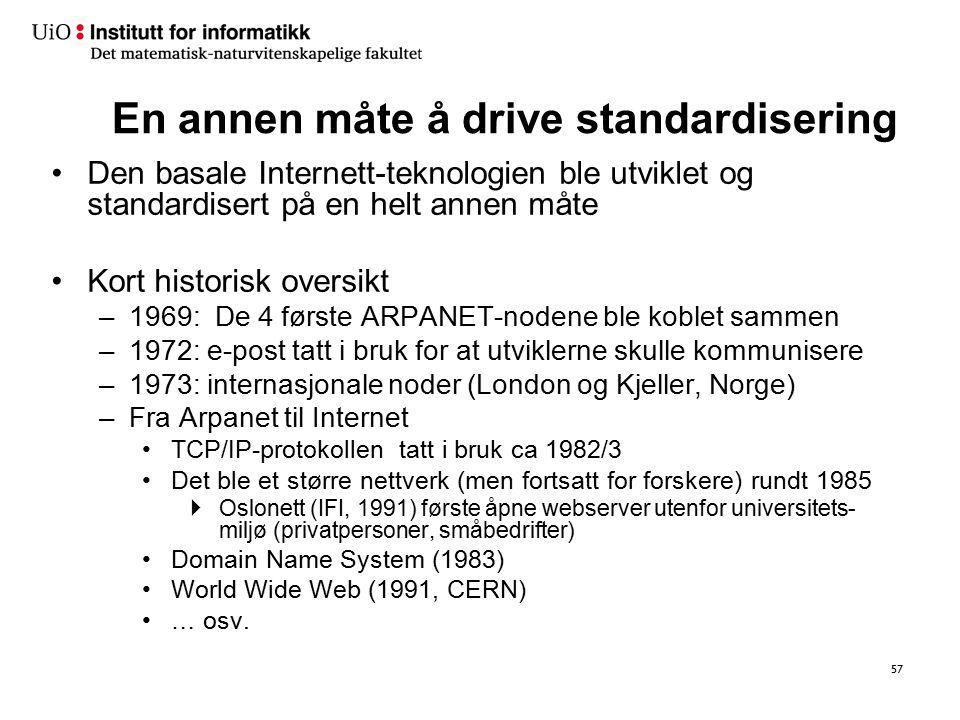 … Overgang til XML-baserte meldingsstandarder