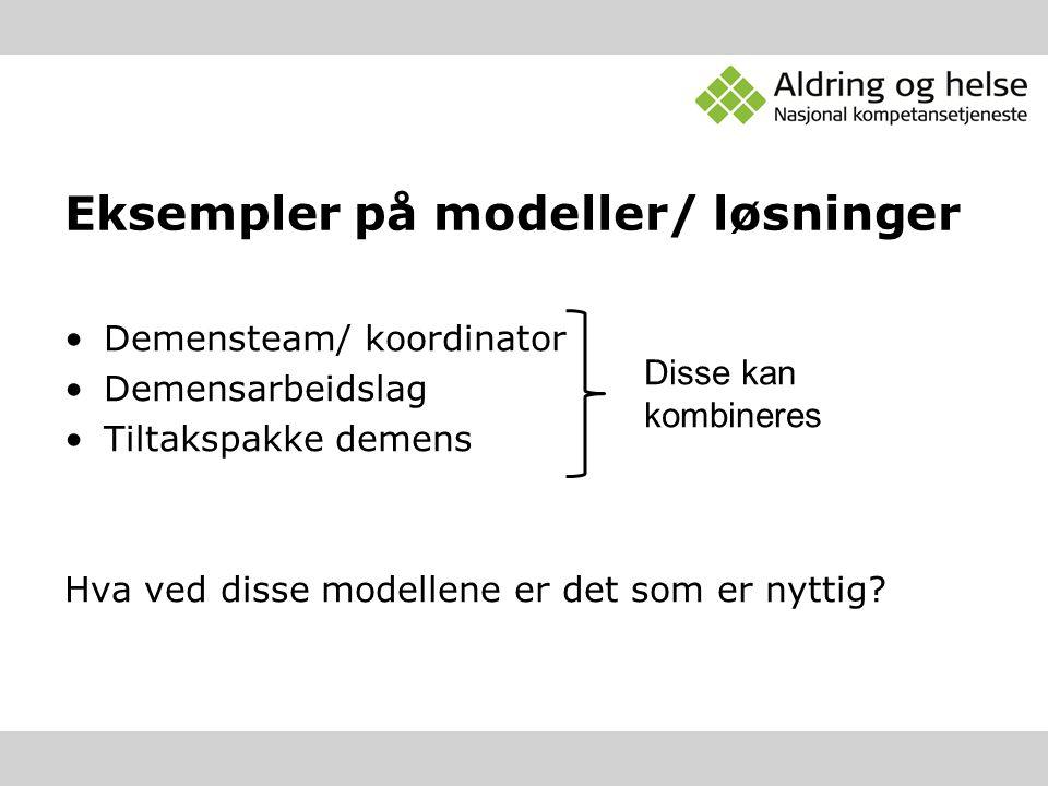 Eksempler på modeller/ løsninger