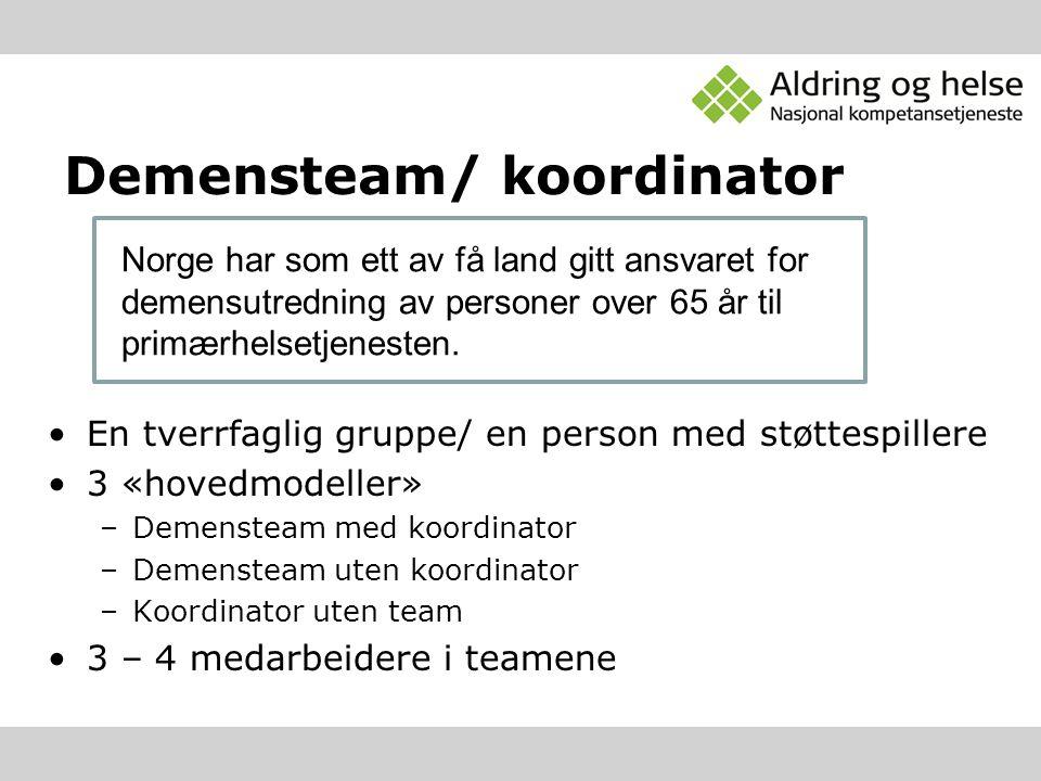 Demensteam/ koordinator