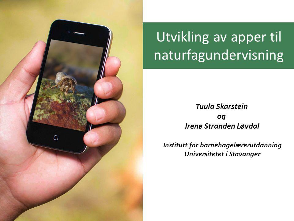 Utvikling av apper til naturfagundervisning