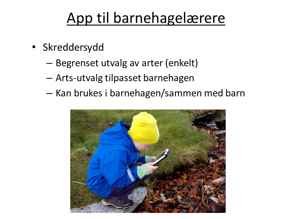 App til barnehagelærere