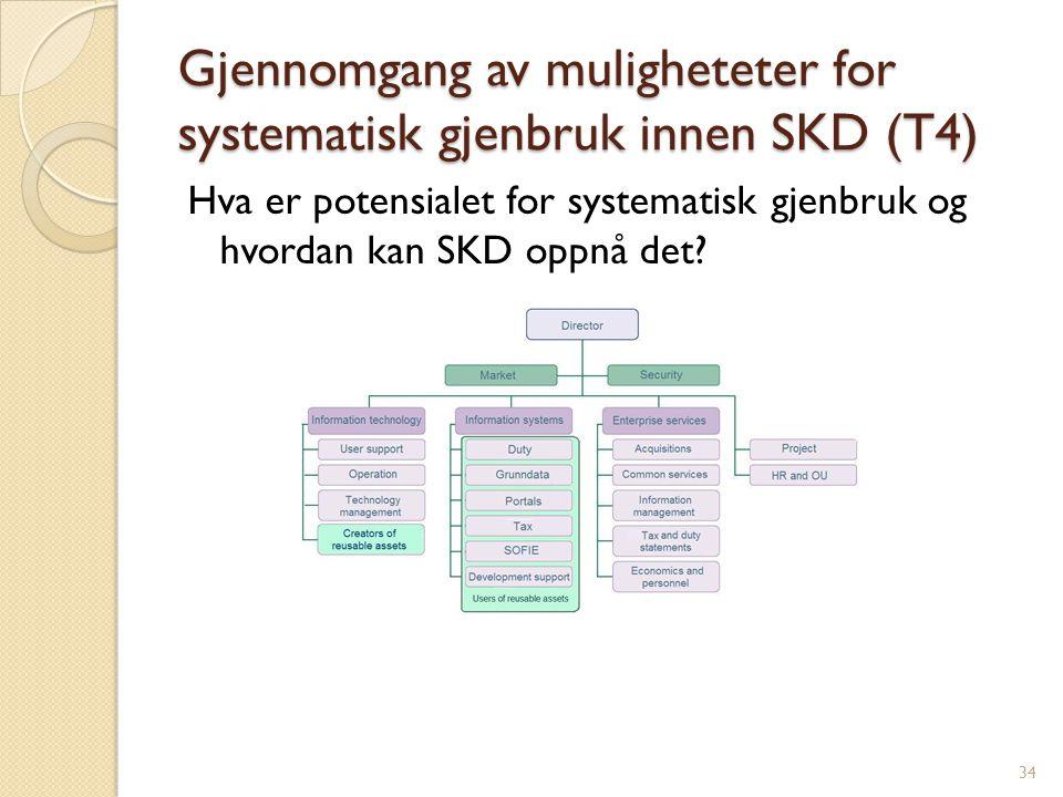 Gjennomgang av muligheteter for systematisk gjenbruk innen SKD (T4)