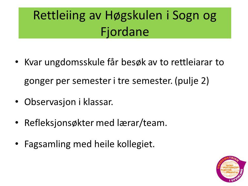 Rettleiing av Høgskulen i Sogn og Fjordane