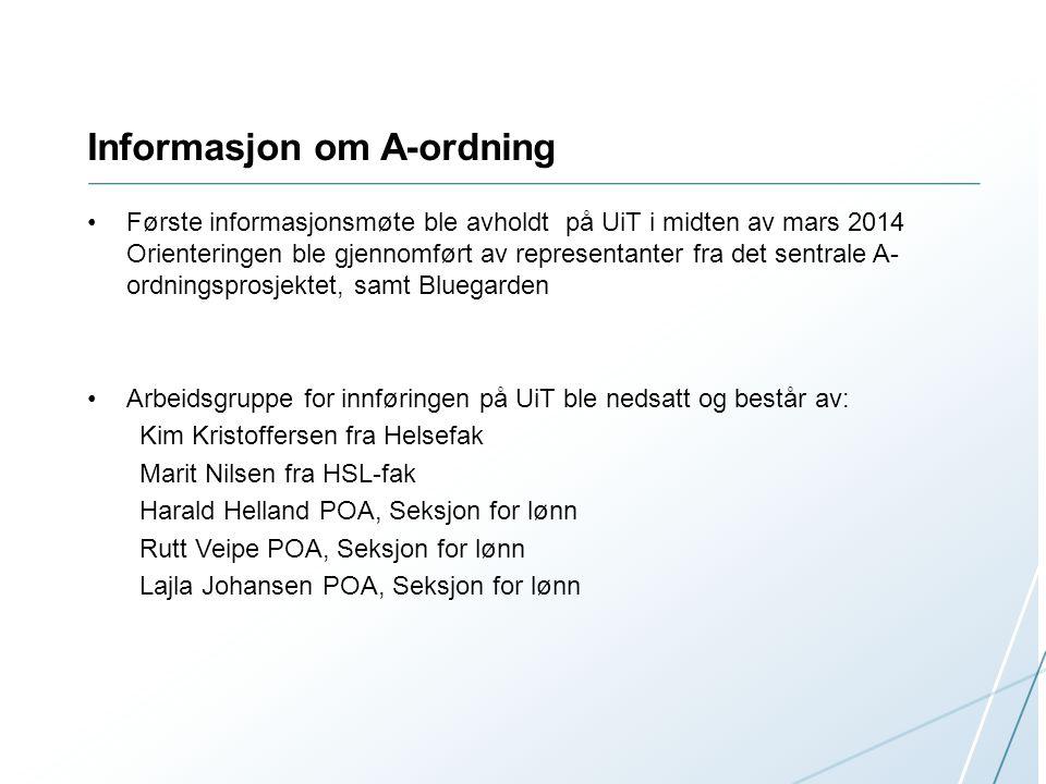Informasjon om A-ordning
