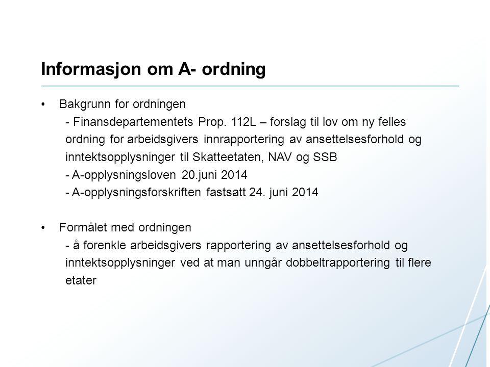 Informasjon om A- ordning