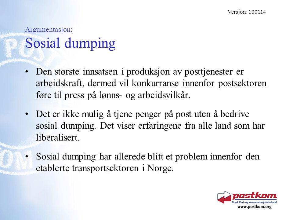 Argumentasjon: Sosial dumping
