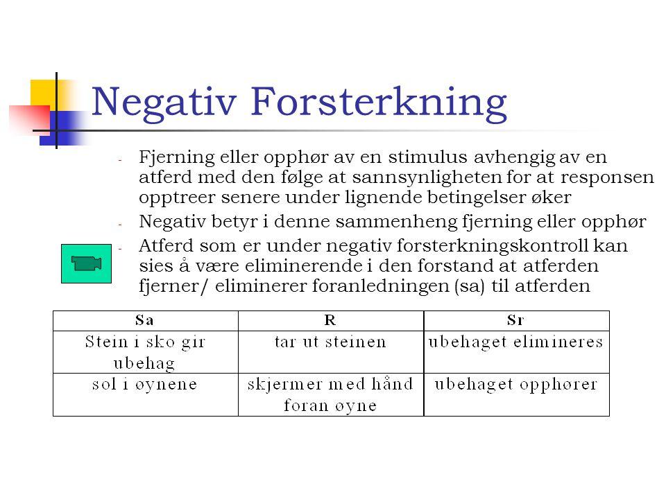 Negativ Forsterkning