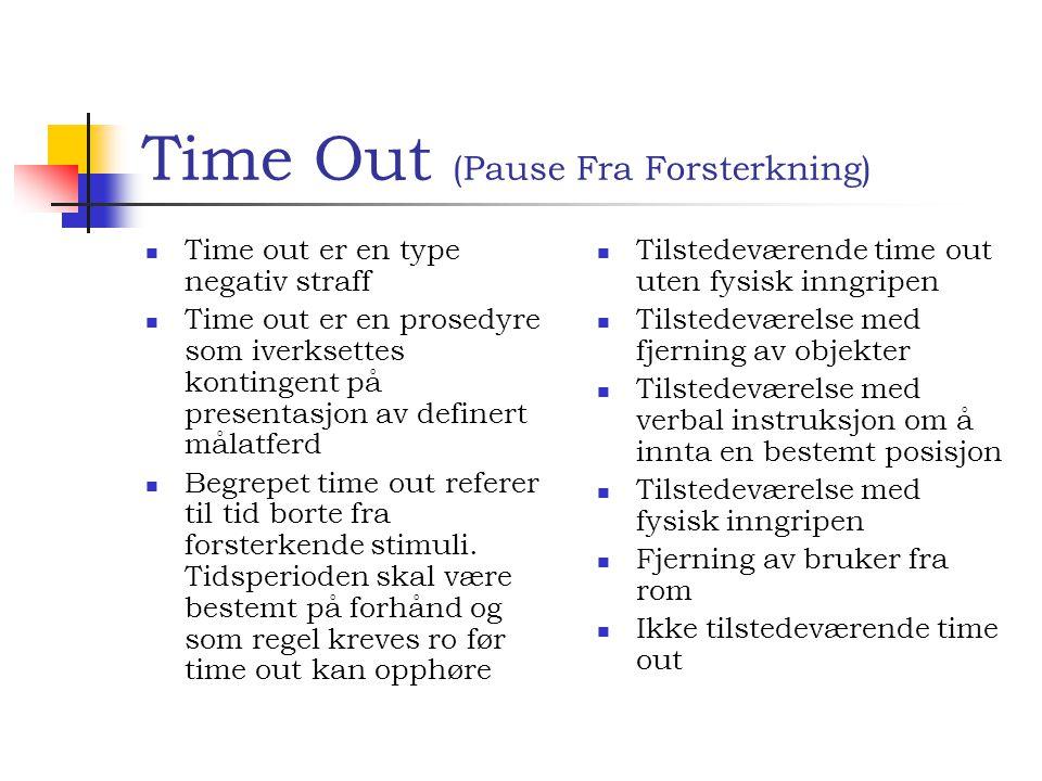Time Out (Pause Fra Forsterkning)