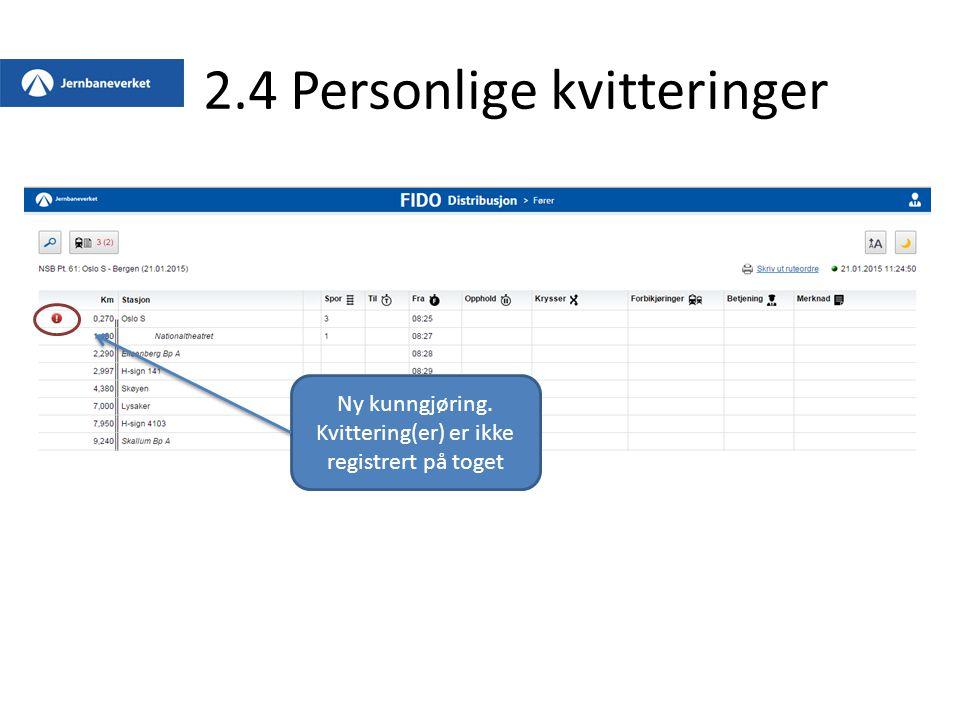 2.4 Personlige kvitteringer