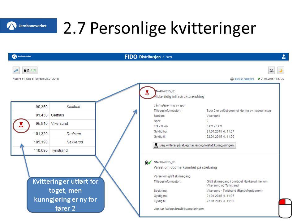 2.7 Personlige kvitteringer