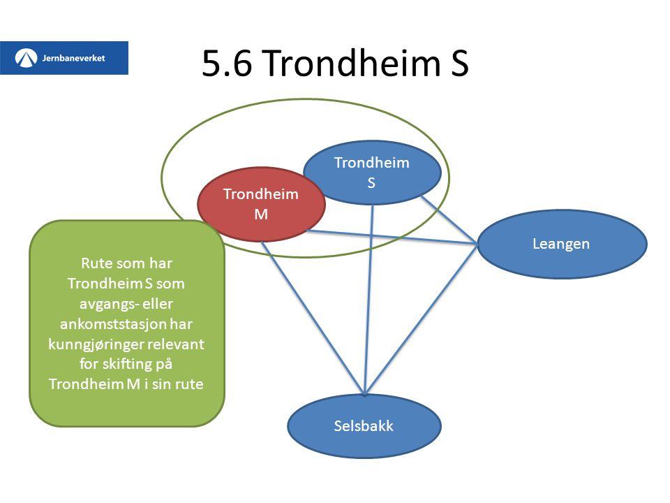 5.6 Trondheim S Trondheim S Trondheim M Leangen