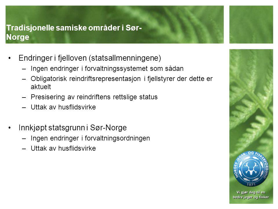 Tradisjonelle samiske områder i Sør-Norge