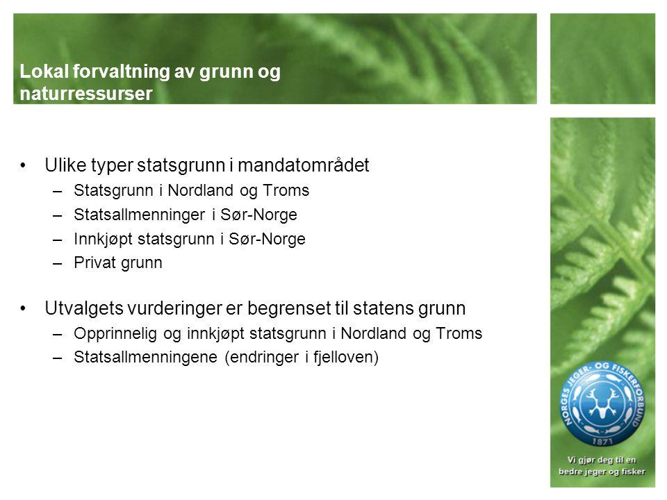 Lokal forvaltning av grunn og naturressurser