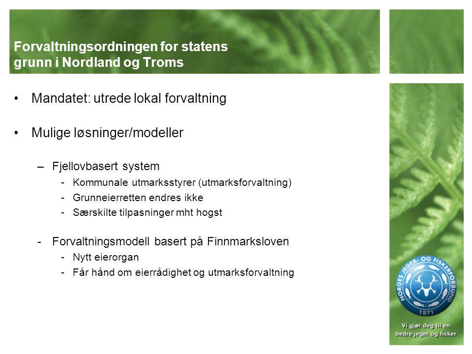 Forvaltningsordningen for statens grunn i Nordland og Troms