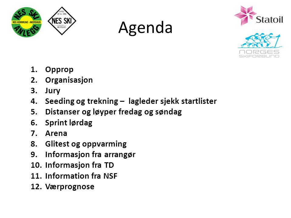 Agenda Opprop Organisasjon Jury