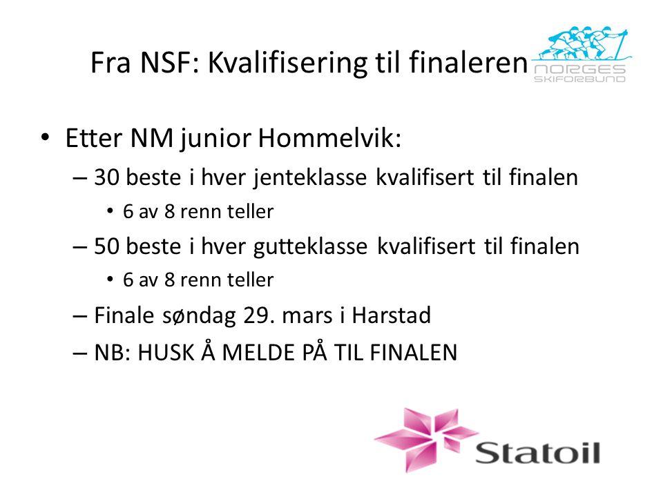 Fra NSF: Kvalifisering til finalerennet