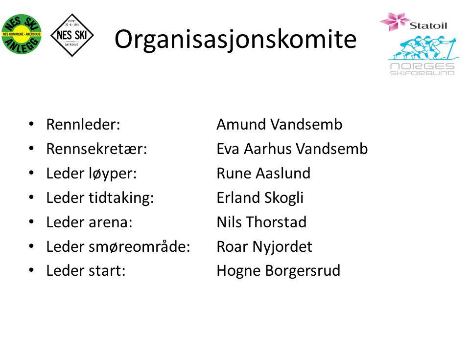 Organisasjonskomite Rennleder: Amund Vandsemb