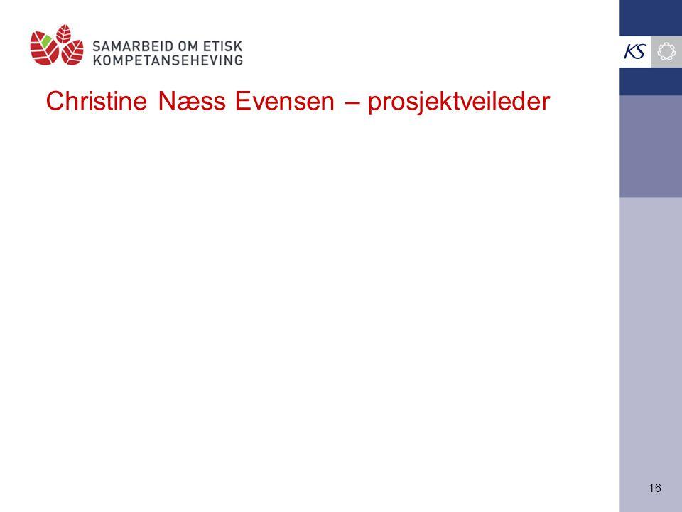 Christine Næss Evensen – prosjektveileder