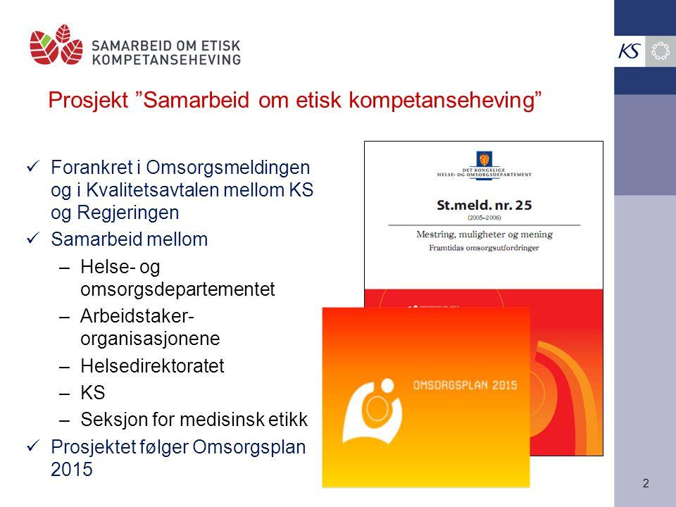 Prosjekt Samarbeid om etisk kompetanseheving