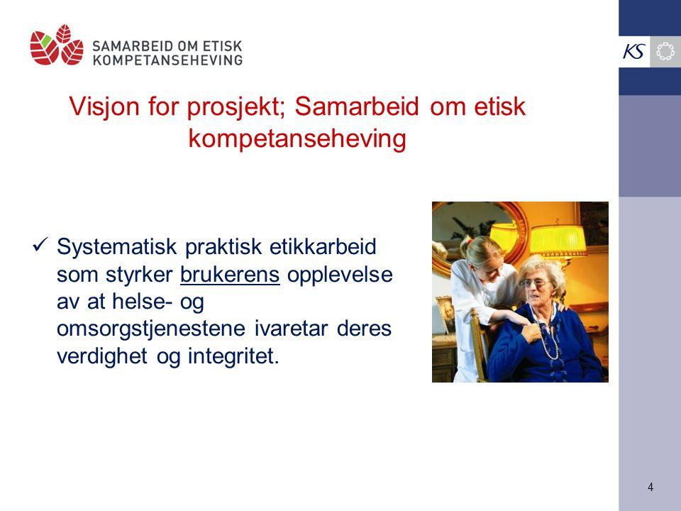 Visjon for prosjekt; Samarbeid om etisk kompetanseheving