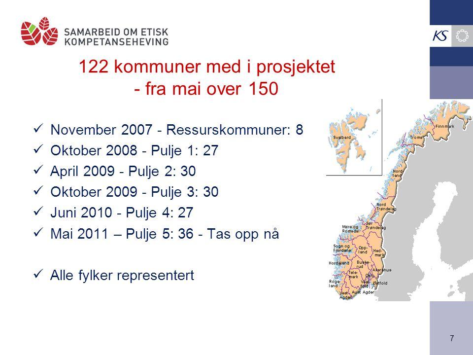 122 kommuner med i prosjektet - fra mai over 150