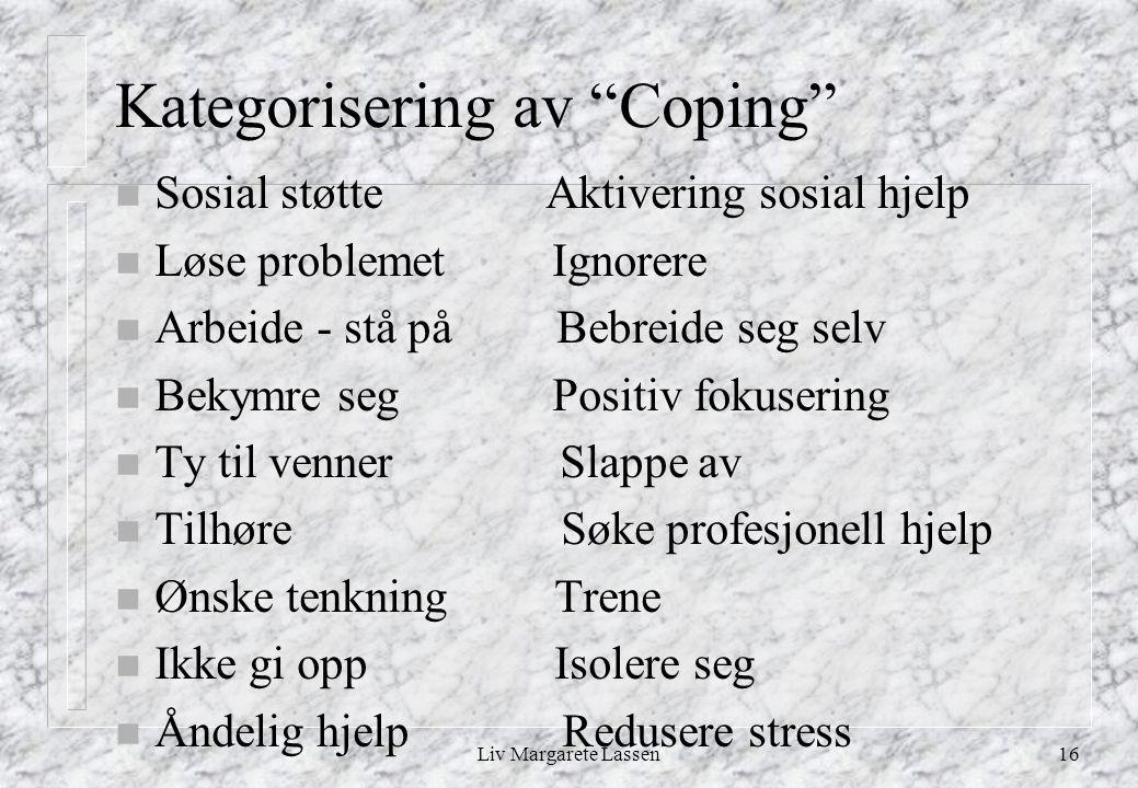 Kategorisering av Coping