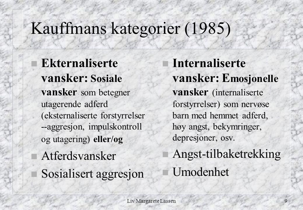 Kauffmans kategorier (1985)