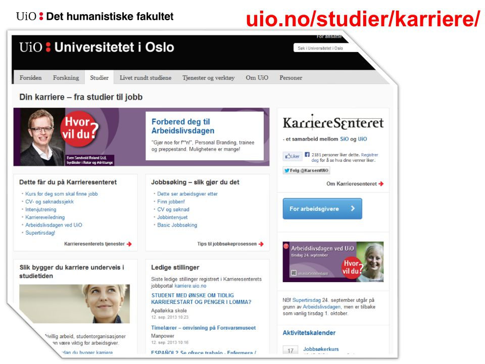 uio.no/studier/karriere/