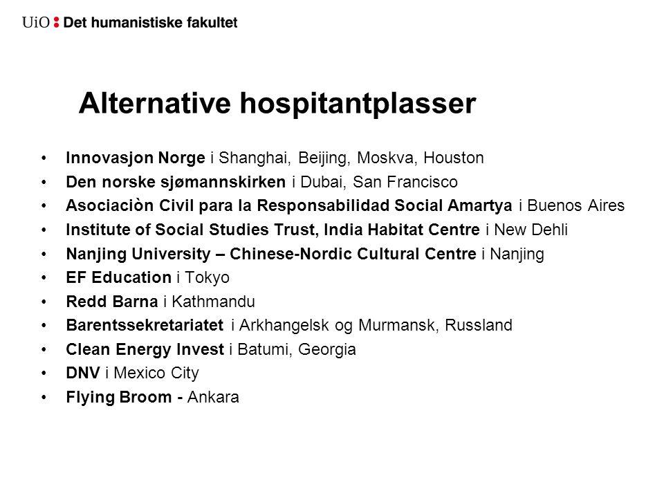 Alternative hospitantplasser