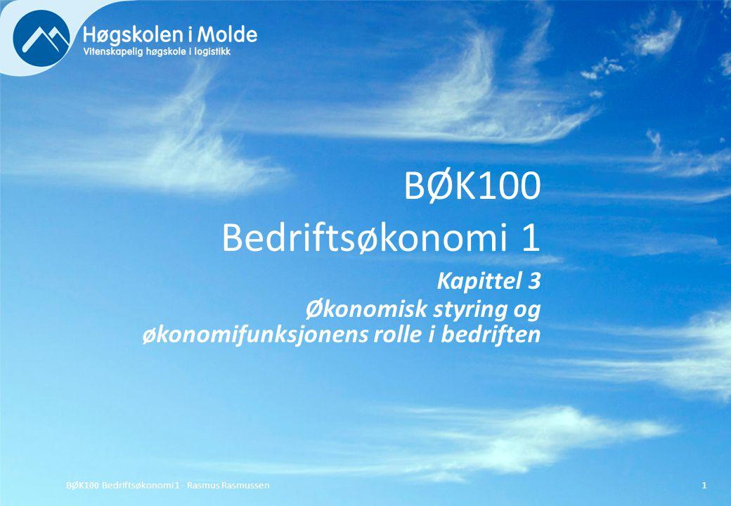 BØK100 Bedriftsøkonomi 1 Kapittel 3