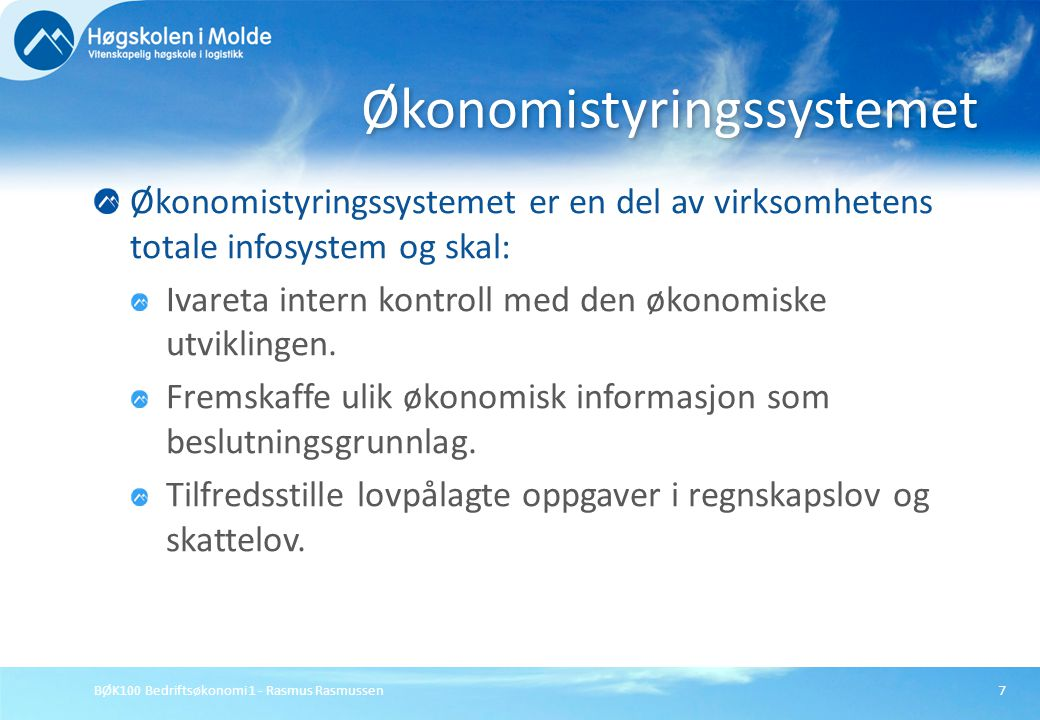 Økonomistyringssystemet