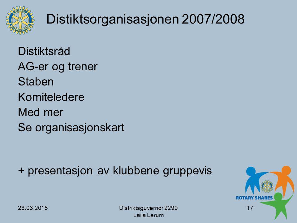 Distiktsorganisasjonen 2007/2008