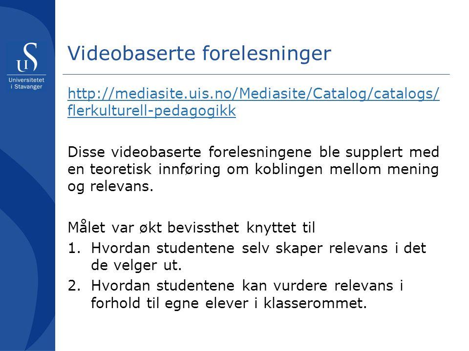 Videobaserte forelesninger