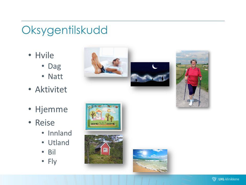 Oksygentilskudd Hvile Aktivitet Hjemme Reise Dag Natt Innland Utland