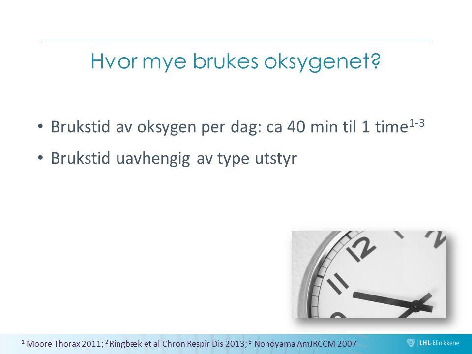 Hvor mye brukes oksygenet