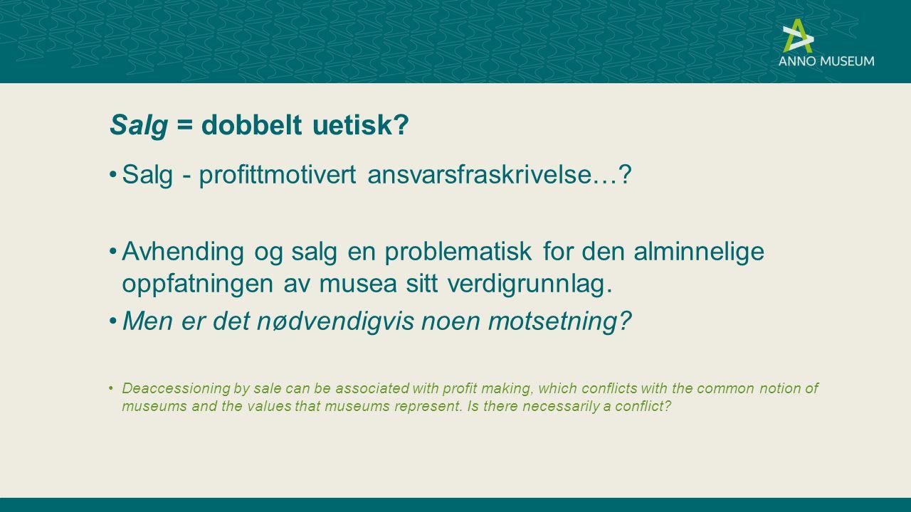 Salg = dobbelt uetisk Salg - profittmotivert ansvarsfraskrivelse…