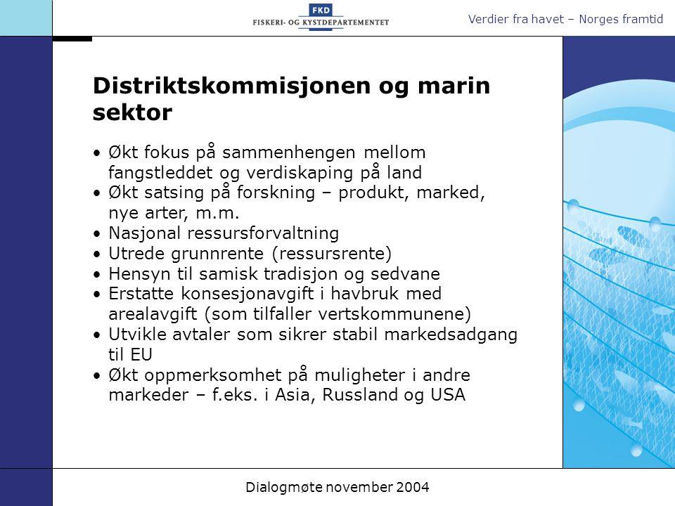 Distriktskommisjonen og marin sektor