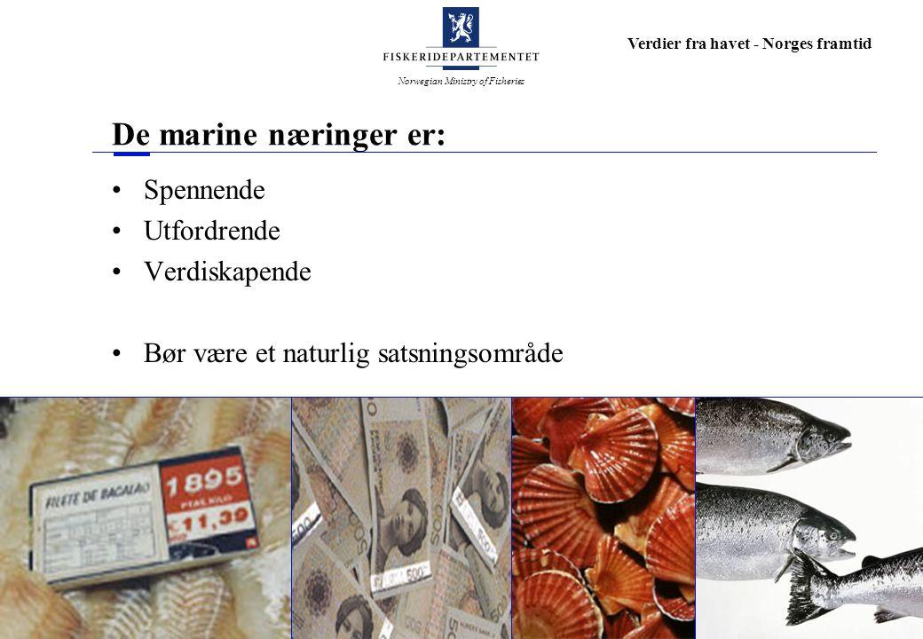De marine næringer er: Spennende Utfordrende Verdiskapende