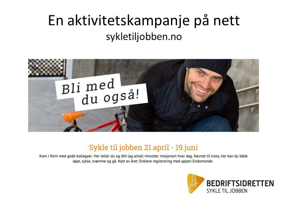 En aktivitetskampanje på nett sykletiljobben.no