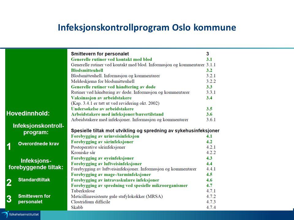 Infeksjonskontrollprogram Oslo kommune