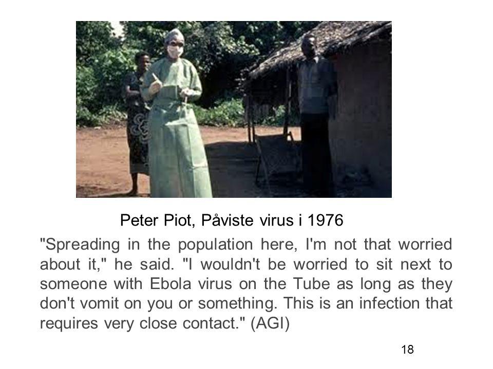 Peter Piot, Påviste virus i 1976