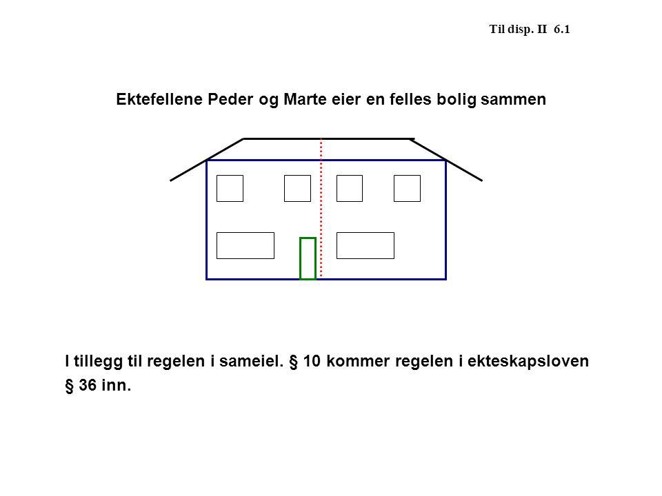 Ektefellene Peder og Marte eier en felles bolig sammen