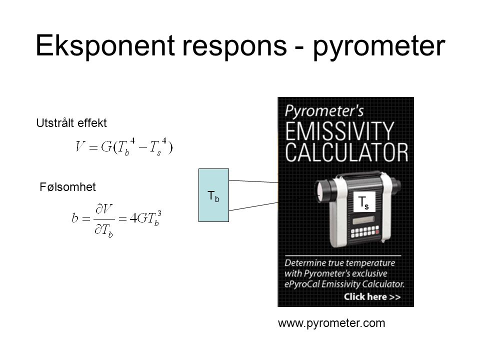 Eksponent respons - pyrometer