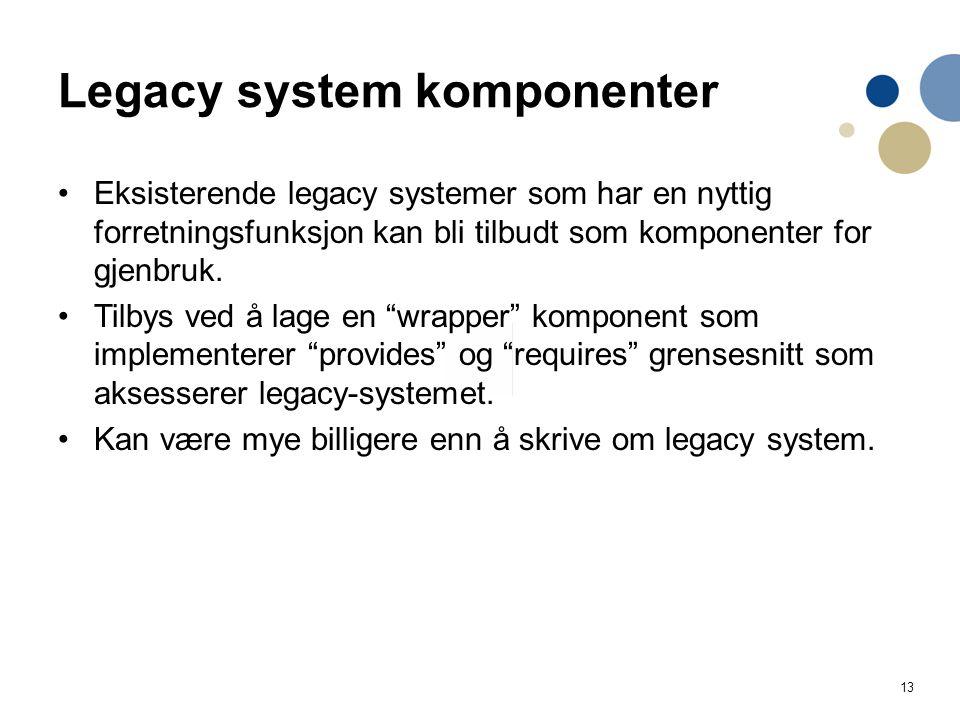 Legacy system komponenter