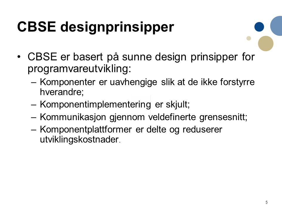 CBSE designprinsipper