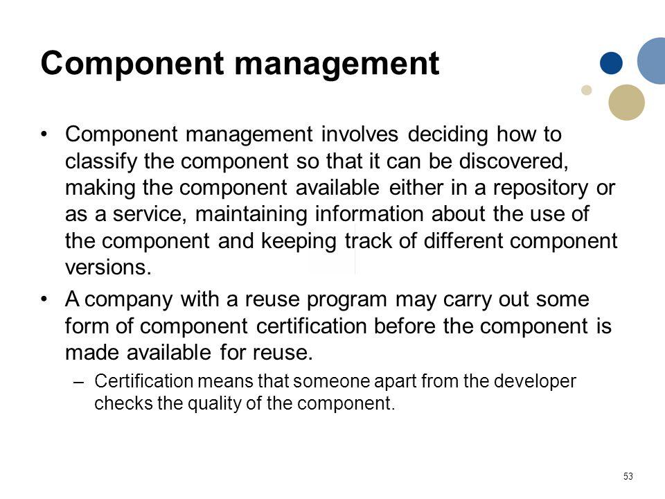 Component management