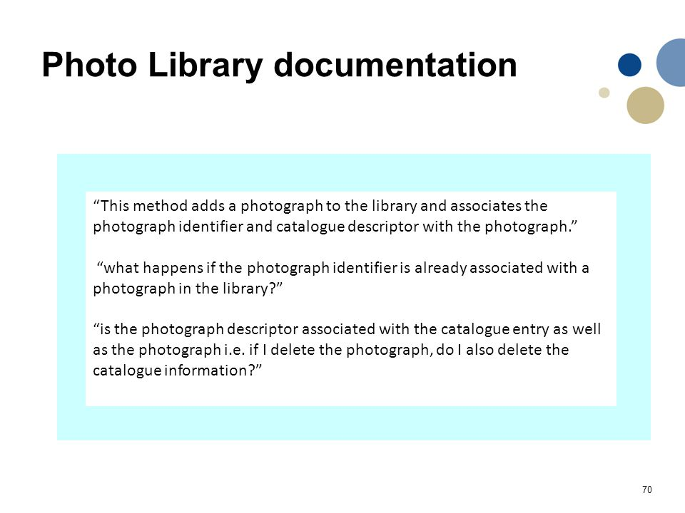 Photo Library documentation