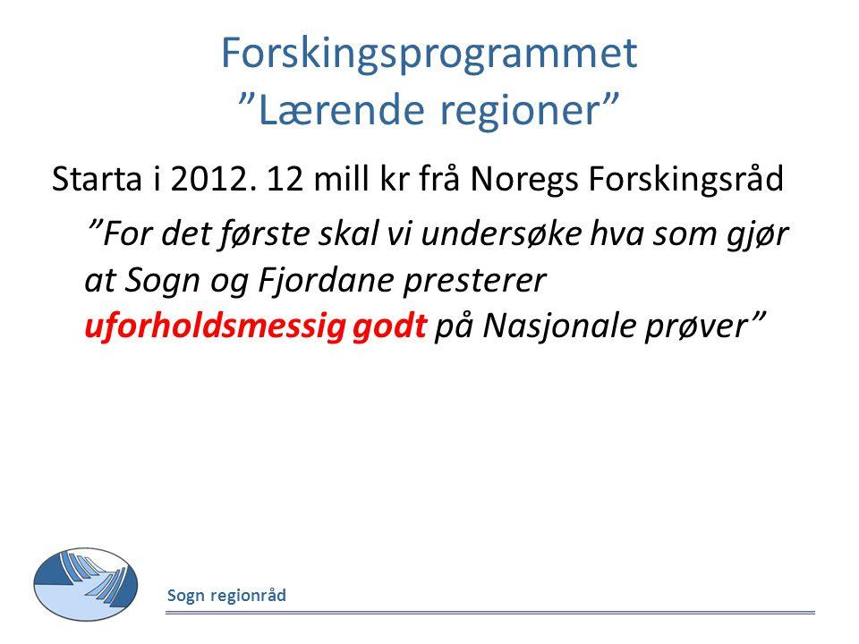 Forskingsprogrammet Lærende regioner