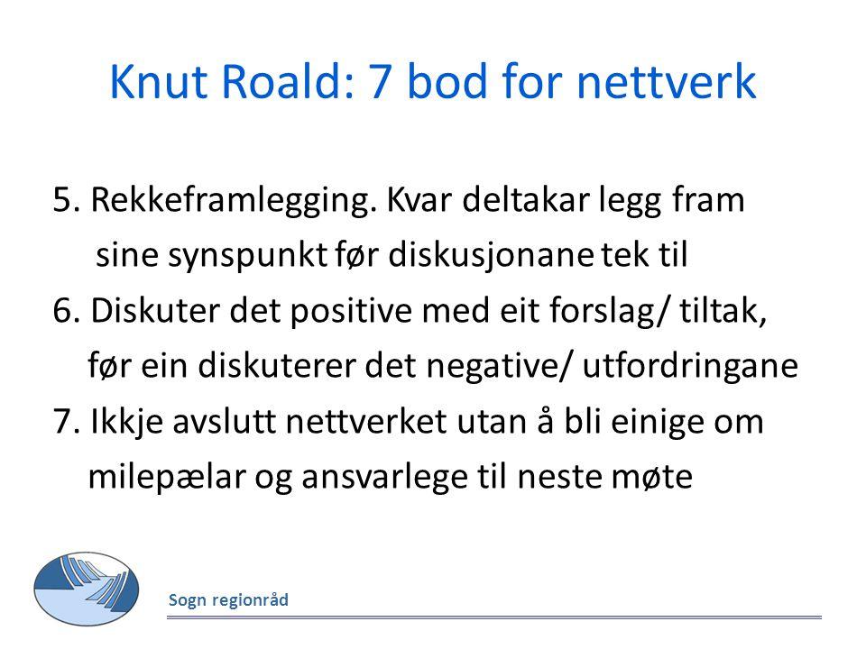 Knut Roald: 7 bod for nettverk