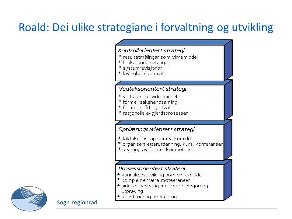 Roald: Dei ulike strategiane i forvaltning og utvikling